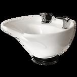White 8600 Tilting Porcelain Shampoo Bowl
