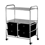 Pibbs High Capacity Black Work Cart