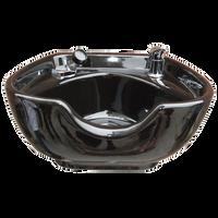 Porcelain Shampoo Bowl Black