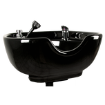 Black 8100 Stationary Porcelain Shampoo Bowl