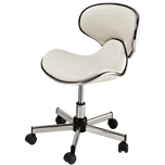 Butterfly White Mini Pedicure Stool
