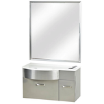 Stainless Steel Styling Station-White Stone