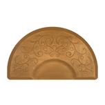 Bella Copper Leaf 3' X 5' Round Mat with Chair Depression