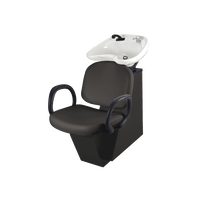 Star Backwash Unit Black Chair with Black Bowl