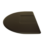 4045CS 4 x 4.5 1/2 Round Black Mat With Chair Depression