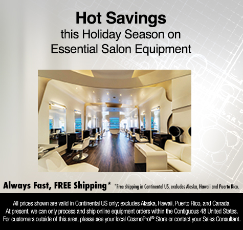 Hot Savings this Holiday Season on Essential Salon Equipment