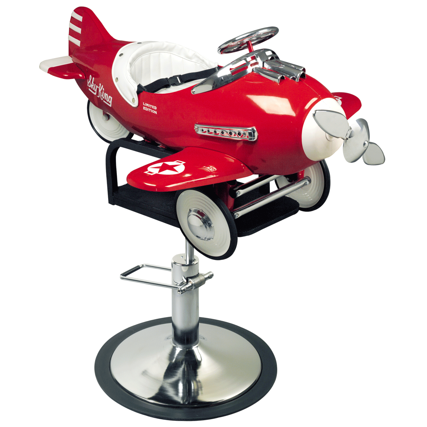 Pibbs Kids Airplane Hydraulic Styling Chair Model 1810 at