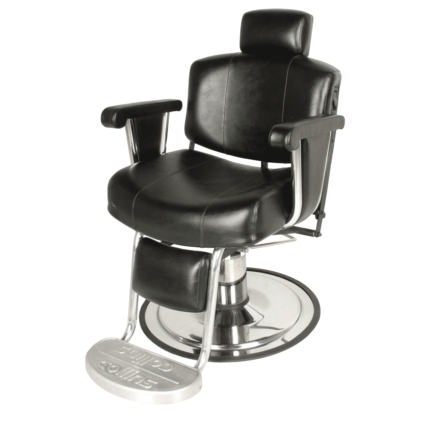 barber chair with kickout footrest wallaby black