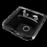 #10 Black Fiberglass Shampoo Bowl