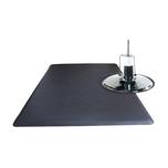 3' x5' Rectangle Salon Mat with Chair Depression - Black
