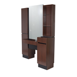 Reve Brighton Walnut Back-to-Back Styling Vanity