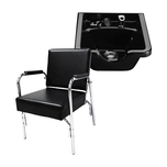 Puresana Auto Recline Shampoo Chair with Plastic Shampoo Bowl