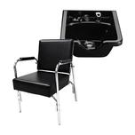 Puresana Auto Recline Shampoo Chair with Plastic Shampoo Bowl