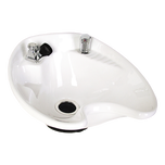White 8700 Tilting Porcelain Shampoo Bowl