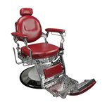 Berkeley Jefferson Barber Chair - Crimson