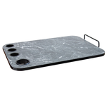 Black Marbleized Trolley Topper