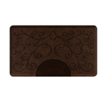 Bella Dark Antique Rectangle Mat with Chair Depression