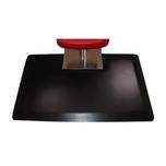 Vegas Heel-Proof 3'x5' Rectangle with Square Base Salon Mat - Black