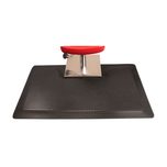 Reflex 3' x 5' Rectangle With Square Base Black Salon Mat
