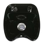 Backwash Porcelain Bowl Black