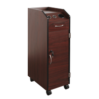 Keystone Mahogany Lockable Wood Trolley