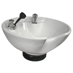 White 8200 Tilting Porcelain Shampoo Bowl