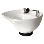 White 8600 Tilting Porcelain Shampoo Bowl