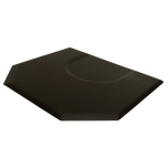 4045X 4 x 4.5 Black Rectangle Mat