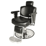 Continental Barber Chair with Kick-out Footrest Wallaby Black